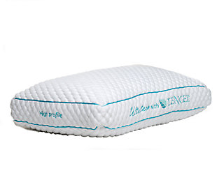 Ultra-Tech Tencel High Profile Pillow, White, large